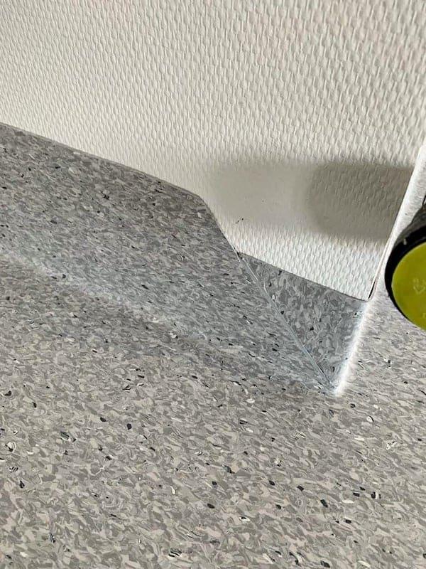 PVC-Verlegung wannenförmig
